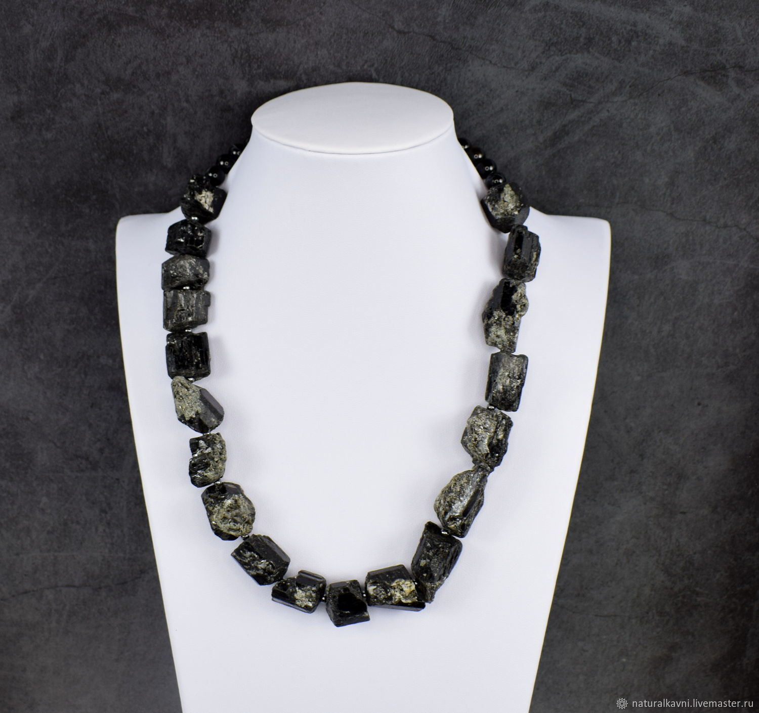 Unprocessed natural schorl tourmaline schorl, Necklace, Moscow,  Фото №1