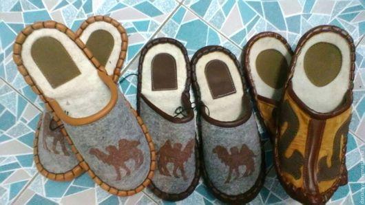 Обувь ручной работы. Ярмарка Мастеров - ручная работа. Купить тапочки. Handmade. Шерсть, тапочки домашние, войлок