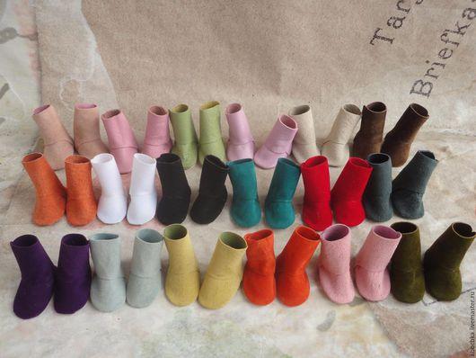 Одежда для кукол ручной работы. Ярмарка Мастеров - ручная работа. Купить Сапожки  для кукольных ножек. Handmade. Обувь для кукол