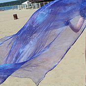 Аксессуары handmade. Livemaster - original item 3 colors to choose from, natural silk scarf, shibori, ,175h110 cm. Handmade.