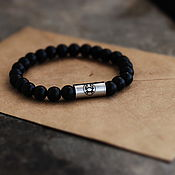 Украшения handmade. Livemaster - original item CANCER and medical steel bracelet. Handmade.