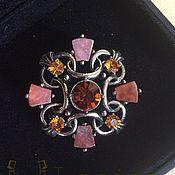 Винтаж handmade. Livemaster - original item Collector`s Scottish brooch with zircons vintage. Handmade.