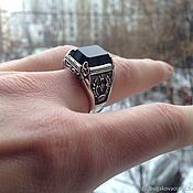 Украшения handmade. Livemaster - original item Ring Silver 925 with Onyx. Handmade.