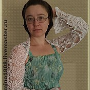 """Одежда ручной работы. Ярмарка Мастеров - ручная работа Шраг-палантин """"Крылья чайки"""". Handmade."""