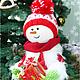 Новый год 2017 ручной работы. Ярмарка Мастеров - ручная работа. Купить Снеговик - помощник Деда Мороза. Handmade. Белый, год овцы