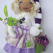 Куклы и игрушки ручной работы. Ярмарка Мастеров - ручная работа Текстильная гномочка VIOLET. Handmade.