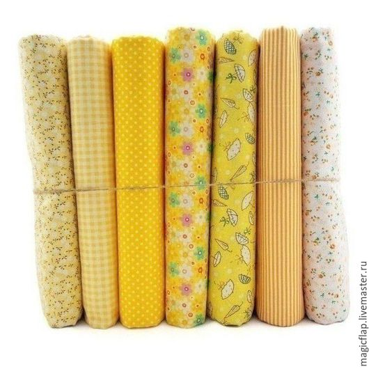 Шитье ручной работы. Ярмарка Мастеров - ручная работа. Купить Набор тканей хлопок Солнечный Желтый. Для текстиля, пэчворка, игрушек. Handmade.
