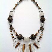 Украшения handmade. Livemaster - original item Necklace made of natural stones in the Eastern style snow Queen.. Handmade.