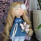 Куклы и игрушки ручной работы. Ярмарка Мастеров - ручная работа Девочка с тюльпанами. Handmade.