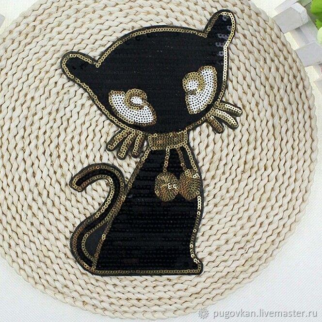 "Термоаппликация ""Черная кошка"", Аппликации, Глазов, Фото №1"