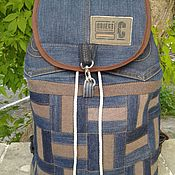 Сумки и аксессуары handmade. Livemaster - original item Backpack denim Basket Cap. Handmade.
