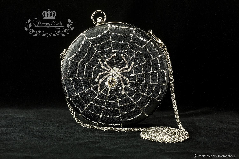 Круглая сумка с пауком, Классическая сумка, Ярославль,  Фото №1