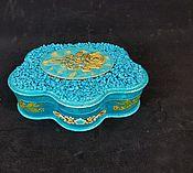 Для дома и интерьера handmade. Livemaster - original item Turquoise jewelry box ,,jewelry ,,. Handmade.