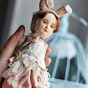 Куклы и игрушки ручной работы. Ярмарка Мастеров - ручная работа тедди-долл Зайчик Лия. Handmade.