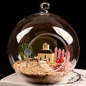 Материалы для творчества ручной работы. Ярмарка Мастеров - ручная работа d10 см Шар стеклянный флорариум. Handmade.