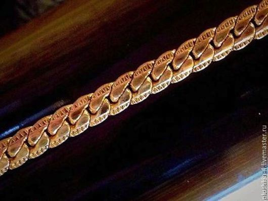 Для украшений ручной работы. Ярмарка Мастеров - ручная работа. Купить Цепь (плоская) цвет- античная позолота. Handmade. Золотой