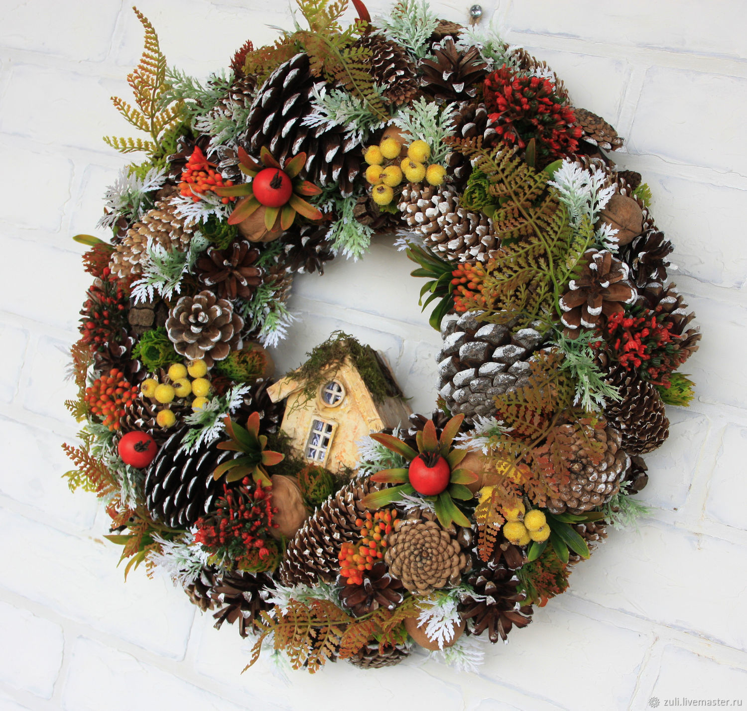 Christmas wreath 'Positive', Wreaths, Podolsk,  Фото №1
