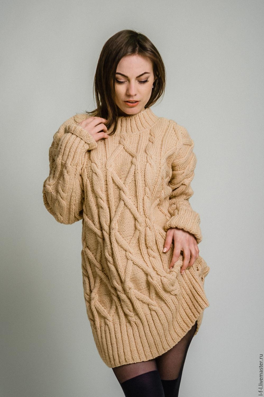eda5e4030a7 Платья ручной работы. Ярмарка Мастеров - ручная работа. Купить Вязаное  платье свитер