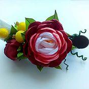 """Украшения ручной работы. Ярмарка Мастеров - ручная работа Заколка """"Роза"""". Handmade."""