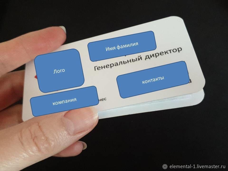 Супер визитка для личных презентаций и повышения продаж, Визитки, Москва,  Фото №1