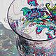 """Вазы ручной работы. Ваза ручной работы """"Фиолетовые узоры"""". Мария Даянова     (MD-design). Ярмарка Мастеров. Стекло, интерьер"""