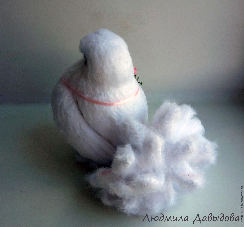 вязаный голубь голубка вязаные птицы мягкая игрушка в подарок
