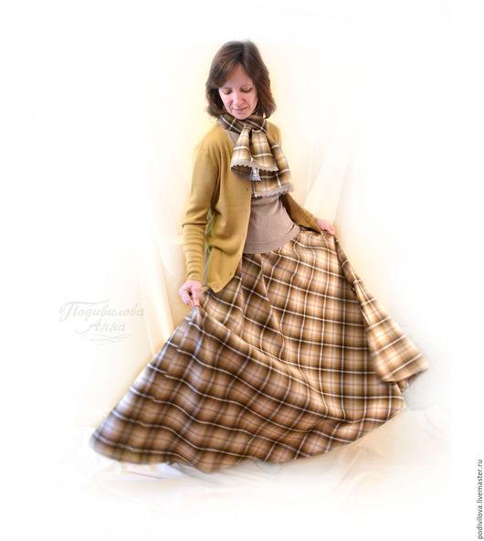 Юбка макси женственная ,в пол,теплая зимняя, осенняя,юбка стильная модная,из шерсти,Анна Подивилова,женственная одежда,одежда для православных, бохо шарф палантин ,подарок женщине .