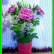 Цветы и флористика handmade. Livemaster - original item Bouquet of pink roses.. Handmade.