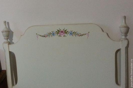 Мебель ручной работы. Ярмарка Мастеров - ручная работа. Купить Кровать односпальная с росписью. Handmade. Бежевый, роспись мебели