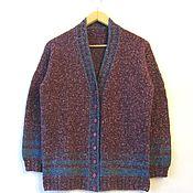 """Одежда ручной работы. Ярмарка Мастеров - ручная работа Кардиган из твидовой пряжи """" old England"""" бронь. Handmade."""