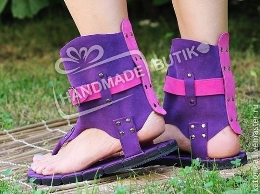 Высокие сандалии из натуральной замши. Возможны любые размеры под заказ по вашим индивидуальным меркам!