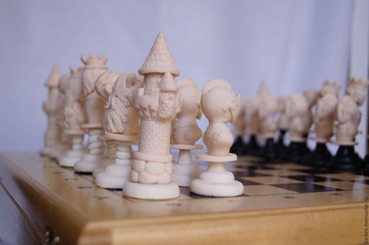 Настольные игры ручной работы. Ярмарка Мастеров - ручная работа. Купить Шахматы ручной работы ( имитация слоновой кости). Handmade.