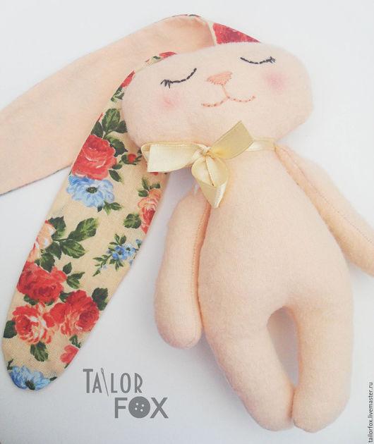 Игрушки животные, ручной работы. Ярмарка Мастеров - ручная работа. Купить Мягкая игрушка Зайка-сплюшка с длинными ушами Высота 19 см. Handmade.