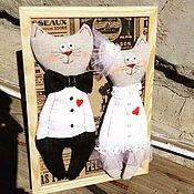 Куклы и игрушки ручной работы. Ярмарка Мастеров - ручная работа Котики. Юбилей свадьбы. Handmade.