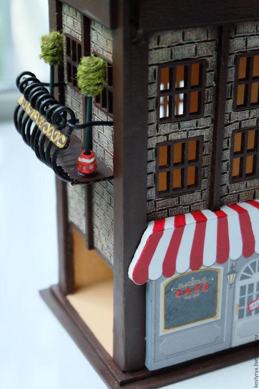 Кухня ручной работы. Ярмарка Мастеров - ручная работа. Купить Чайный домик с балконом №2. Handmade. Коричневый, купить подарок