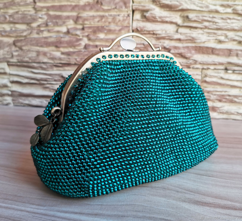 ' Emerald ' 2 handbag, cosmetic bag, beaded purse, Classic Bag, Voronezh,  Фото №1