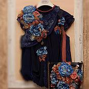 Одежда ручной работы. Ярмарка Мастеров - ручная работа Блузка и сумка Вечерний март. Handmade.