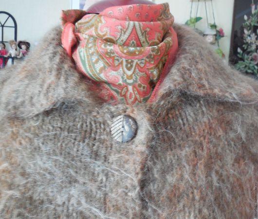 Верхняя одежда ручной работы. Ярмарка Мастеров - ручная работа. Купить Пушистое, уютное пальто. Ручная вязка.. Handmade. Комбинированный