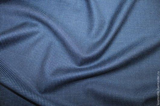 Шитье ручной работы. Ярмарка Мастеров - ручная работа. Купить Шерсть с шелком Guabello. Handmade. Синий, плательная ткань италия