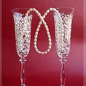 Свадебный салон ручной работы. Ярмарка Мастеров - ручная работа Свадебные Бокалы Анжелика. Handmade.