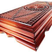 Активный отдых и развлечения handmade. Livemaster - original item Backgammon author, geometer. hand-carved 60x62 cm.. Handmade.