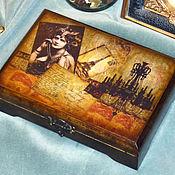"""Для дома и интерьера ручной работы. Ярмарка Мастеров - ручная работа Шкатулка """"Декаданс"""". Handmade."""