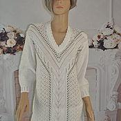 Одежда handmade. Livemaster - original item Knitted tunic, cotton, ,48-52. Handmade.