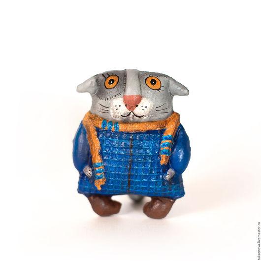 Игрушки животные, ручной работы. Ярмарка Мастеров - ручная работа. Купить Текстильная игрушка Богемный кот Вася. Handmade. Синий