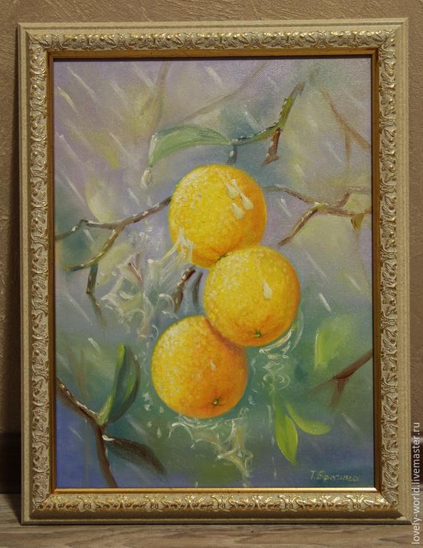 """Картины цветов ручной работы. Ярмарка Мастеров - ручная работа. Купить Картина маслом """"Апельсинчики"""". Handmade. Картина, картина маслом"""