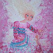 """Картины и панно ручной работы. Ярмарка Мастеров - ручная работа картина на холсте""""Розовая сказка"""". Handmade."""