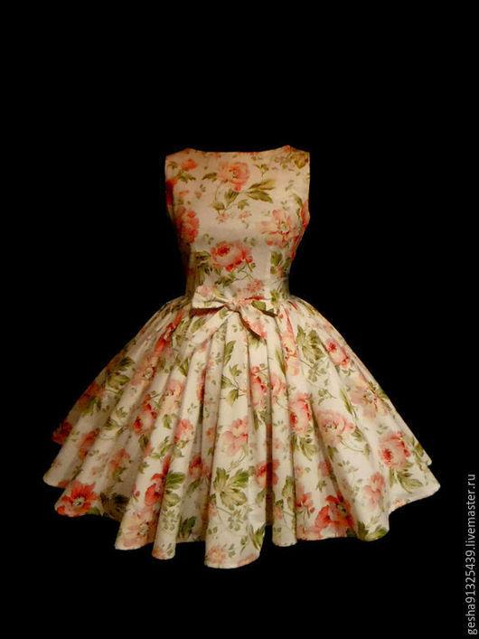 """Платья ручной работы. Ярмарка Мастеров - ручная работа. Купить Платье """"Розы летние"""" очень пышное. Handmade. Белый, хлопок"""