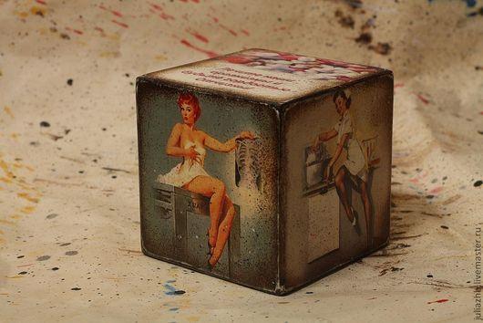 Персональные подарки ручной работы. Ярмарка Мастеров - ручная работа. Купить Кубик-открытка для медработника. Handmade. Кубик, аква-лак