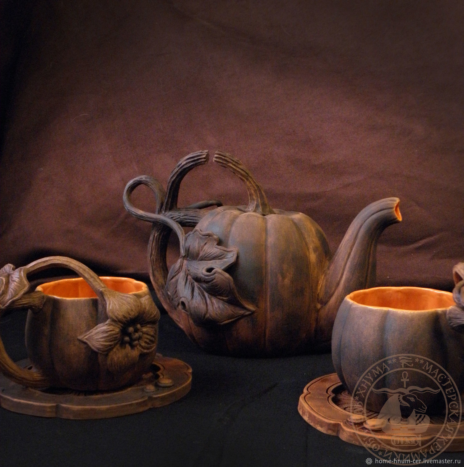 Tea set 'Fires of Samhain', Tea & Coffee Sets, Novosibirsk,  Фото №1