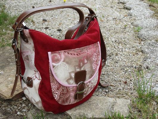 """Женские сумки ручной работы. Ярмарка Мастеров - ручная работа. Купить Женская сумка-рюкзак """"Romantika"""". Handmade. Бордовый"""